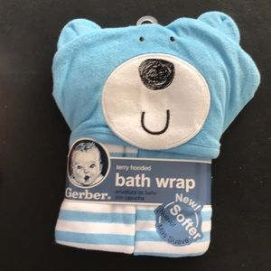Gerber Other - Terry hooded bath wrap